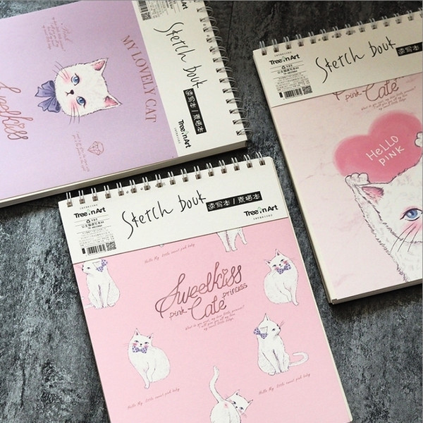 """princess Cat Coil Spiral"" Cute Notebook Diary Hand Memo Study Journal Notepad Freenote Stationery Gift"