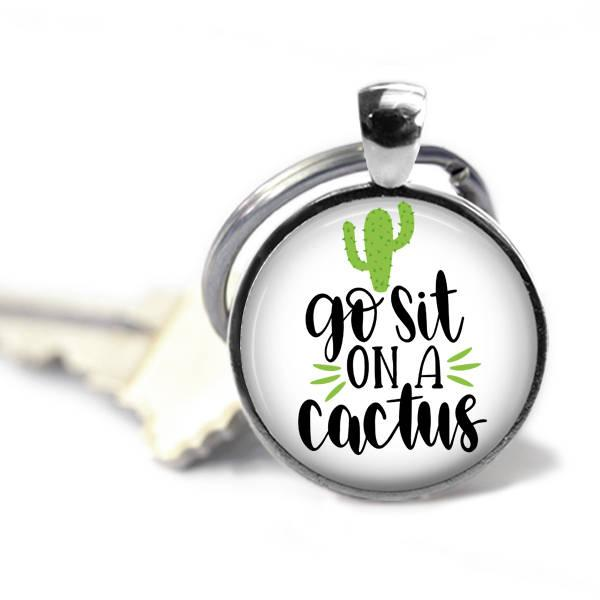 style8 Stuck on your, Funny key chain, Cactus key chain, Can't touch this, Free hugs, Be a cactus, Bed or roses, Delicate flowers