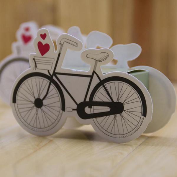 10 Teile / satz Cartoon Fahrrad Form Papier Box Fahrrad Geschenk Taschen Hochzeit Geburtstag Favor Papier Süßigkeitskästen Feier Party Geschenkbox