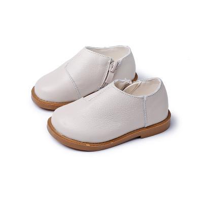 2019 mais recente moda apartamentos sapatos para crianças em três cores clássicas sapatos de couro real para meninas e meninos frete grátis