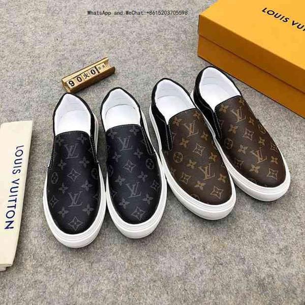 Zapatos para hombre Moda Cómodos Casual Zapatillas de deporte de cuero genuino Mocasines Para Diseñador de lujo Original 011