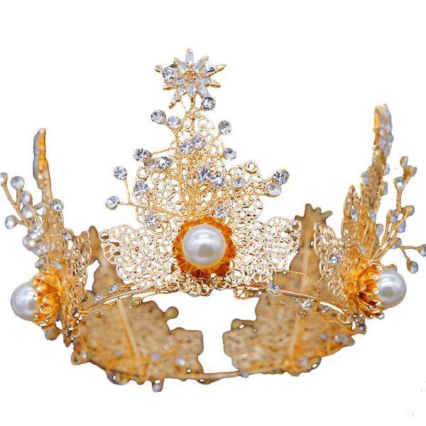 Свадебные Короны Цветок Невесты Украшения Для Волос Кристалл Тиара Принцесса Корона Свадебные Диадемы Аксессуары Для Волос Барокко День Рождения Диадемы Серьги