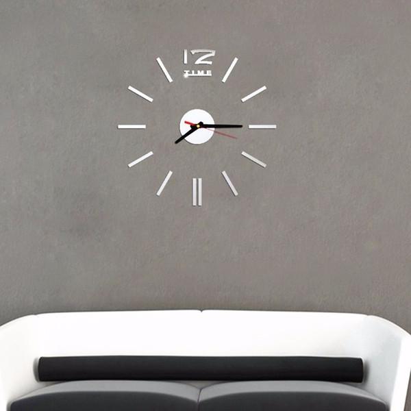 Nuevas pegatinas de reloj de pared de acrílico 3D para la decoración del hogar Diseño moderno Espejo Reloj de pared de cuarzo para la decoración de la habitación Puede enviar el envío