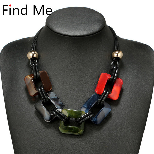 Find Me 2018 fashion power Leather cord statement necklace & pendants vintage weaving collar choker necklace for women Jewelry C18122501