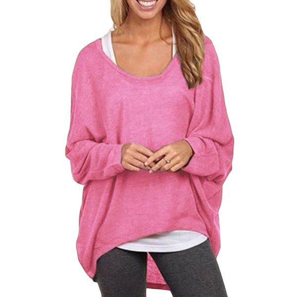 5XL Plus Size T Shirt Women 2019 Korean Casual Long Camisetas Mujer Batwing Sleeve Loose T-shirt Female Pink Tunic Shirt