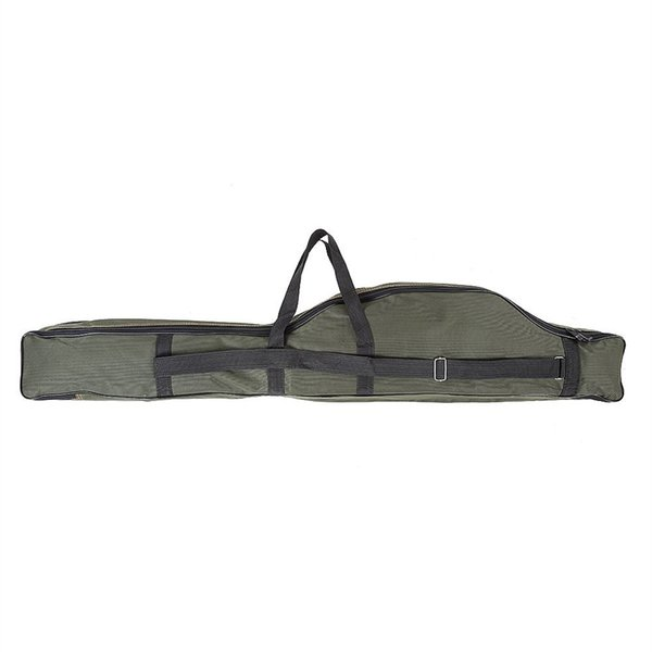 Portable Folding Fishing Rod Carrier Canvas Fishing Pole Tools Storage Bag Case Gear Tackle 120cm #717374