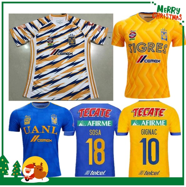 2019 2019 Mexico Club H.LOZANO G.DOS SANTOS CHICHARITO Futbol Soccer  Jerseys Shirt 18 19 Tigres UANL Football Jersey From Kongjunlin 736355ab5