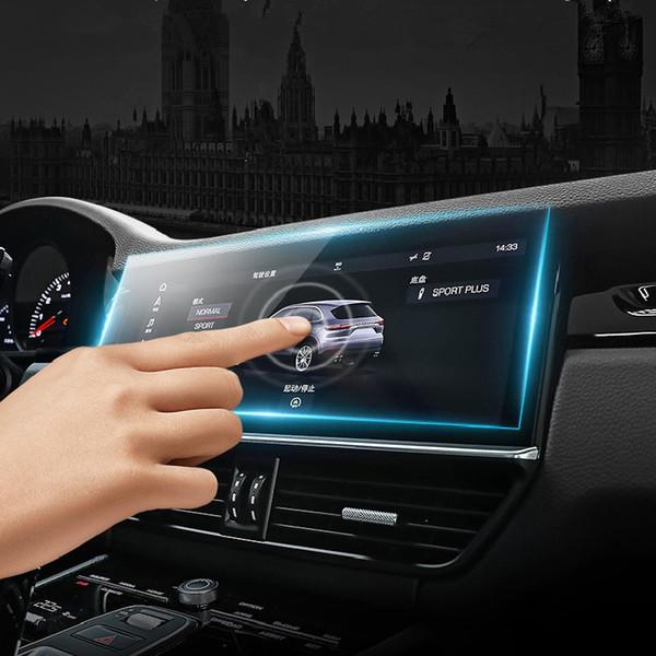 9 H Clear Ekran Koruyucu Ekran Koruyucu Şeffaf Cam Filmi Porsche Macan Cayenne Panamera 2013 2014 2015 2016 2017 2018