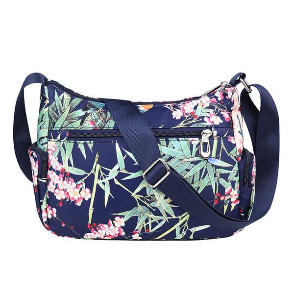 good quality Women Messenger Bag Flower Printing Casual Shoulder Bags Waterproof Nylon Crossbody Bag Travel Mummy Bags Sac A Main