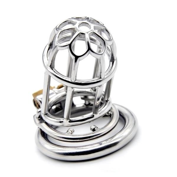 Nouveau dispositif de chasteté de bondage masculin avec le cathéter urétral anneau de BDSM Sex Toys en acier inoxydable ceinture de chasteté Cage de chasteté