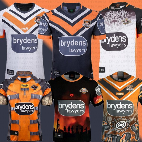 2019 Australia WESTS TIGERS Home Maglia da passeggio Maglia da rugby indigena Jerseys Anzac ROCKET RACCOON MARVEL Maglia da rugby da competizione NFL Australia