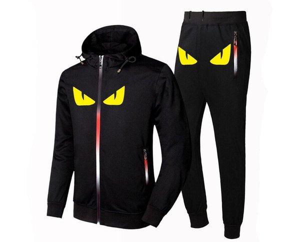 Desgaste do Zipper Men camisola do Hoodie dos homens de Cardigan Moda Sportswear Marca Designer Jacket Calças Calças de Luxo Homens Outono