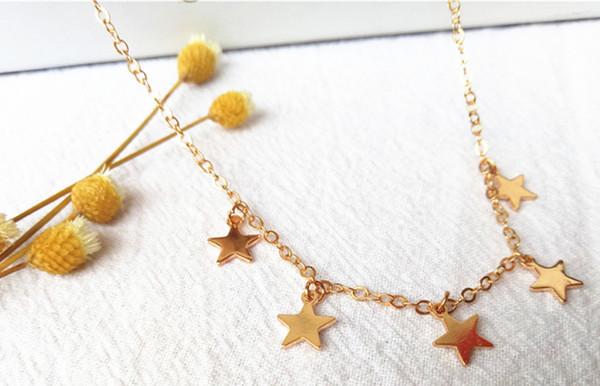 cecmic gold little stars choker handmade costume vogue jewelry necklace bulk cheap factory price jewellery supplies China