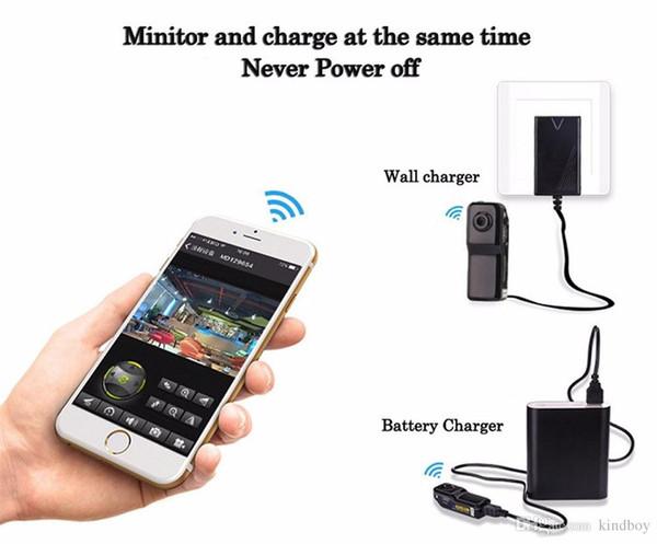 2019 Mini MD81S Camera Camcorder Wifi IP P2P Wireless DV Camera Secret Recording CCTV Android iOS Smallest Wifi Camcorder Video Espia Nanny