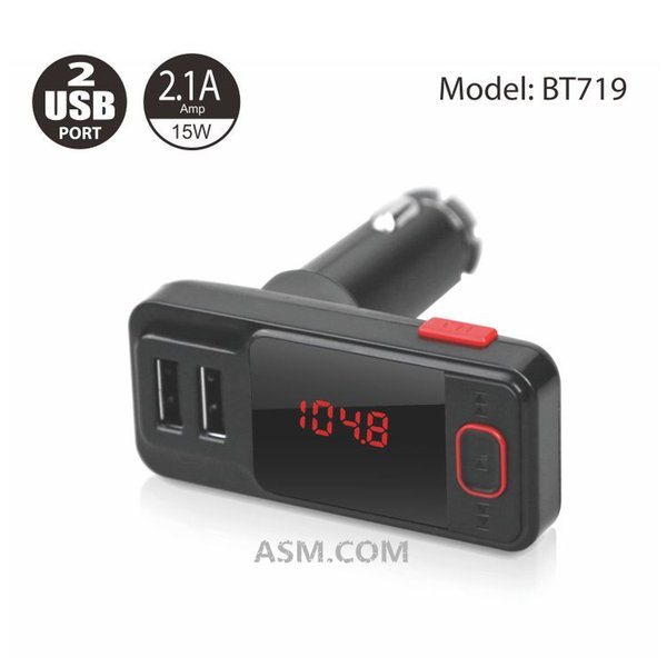 Hot Wireless FM Transmitter Remote Control Handsfree Bluetooth Car Kit Dual USB Car Chrger For Iphone XS XR Samsung S9 Huawei Mate 20