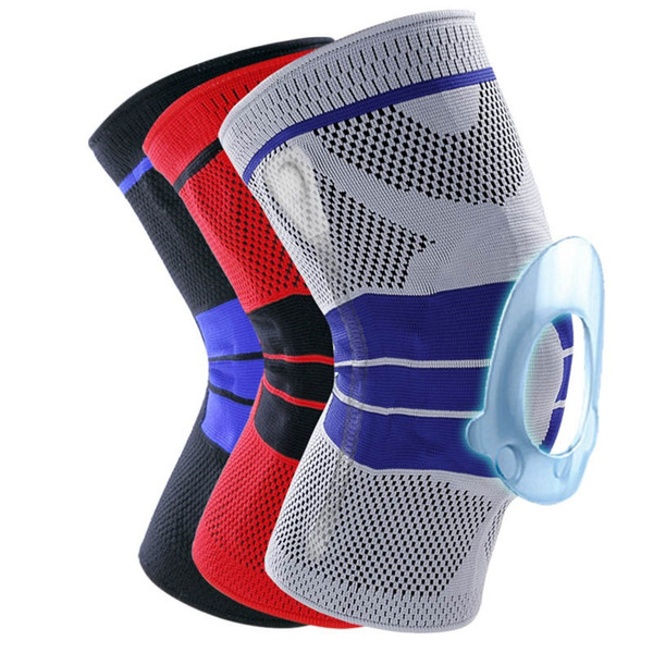 2019 1pc Basketball Knee Brace Compression knee Support Sleeve Injury Recovery Volleyball Fitness sport safety sport protection gear