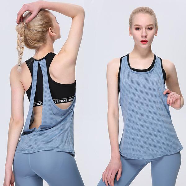 Sport Faux Deux-Piece Yoga Soutien-gorge Gilet Femmes Sexy Workout Vêtements Courir Beauté Retour Yoga Gilet de sport Fitness Top T-shirt