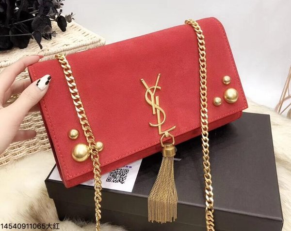 61 YSL women s Genuine Leather chain bag handbag Shoulder Bag Envelope bag  Crossbody bags Shopping messenger bags Evening clutch bags fabc6a830f3f3