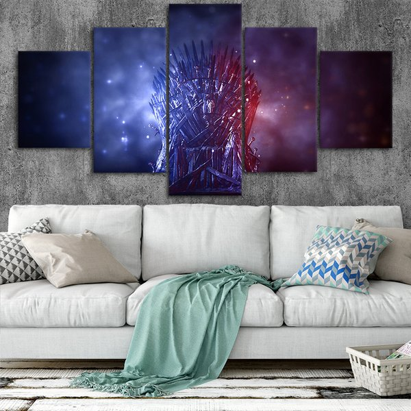 Miraculous 2019 Game Of Thrones Iron Throne Canvas Posters Home Decor Wall Art Framework Paintings For Living Room Hd Prints Pictures From Niartwork 21 69 Creativecarmelina Interior Chair Design Creativecarmelinacom