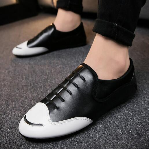 Spring and Autumn New Men's Leisure Shoes 2019 British Fashion Men's Shoes Driving Shoes