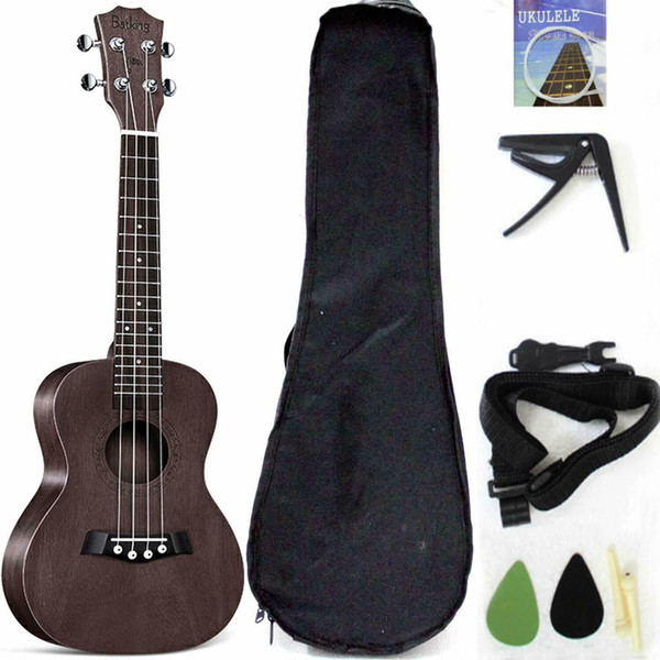 best selling Tenor Ukulele Solid Top Mahogany 26 Inch With Ukulele Accessories With Gig Bag