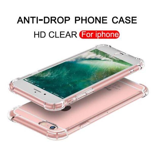 Прозрачный силиконовый чехол против падения TPU для iPhone X XS X MAX XR Чехол для iPhone 786s Plus Роскошные чехлы