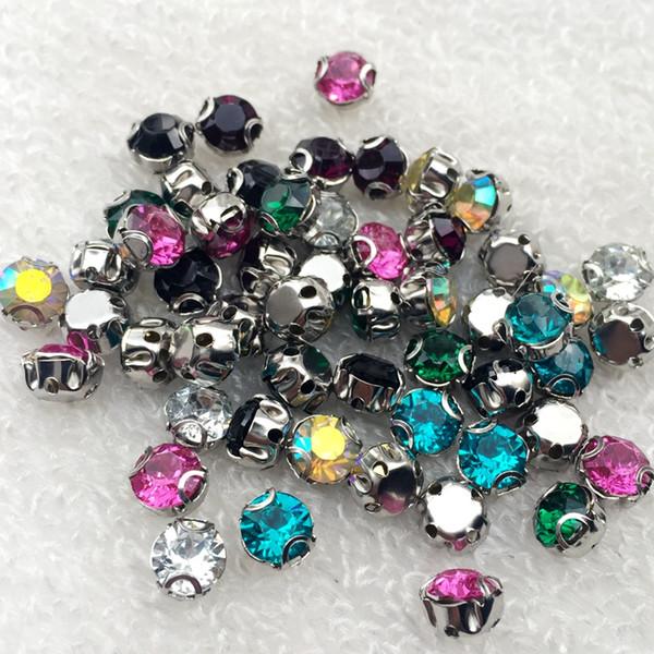 600pcs 6mm Resin Round Base Crystal Rhinestones AAA Claw Drill Clear Crystal AB Rhinestone Sewing on Garments -B85