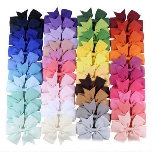3 дюйма 40 цветов волосы луки стрижка Candy Цвет волос луки девушек аксессуар для волос заколок
