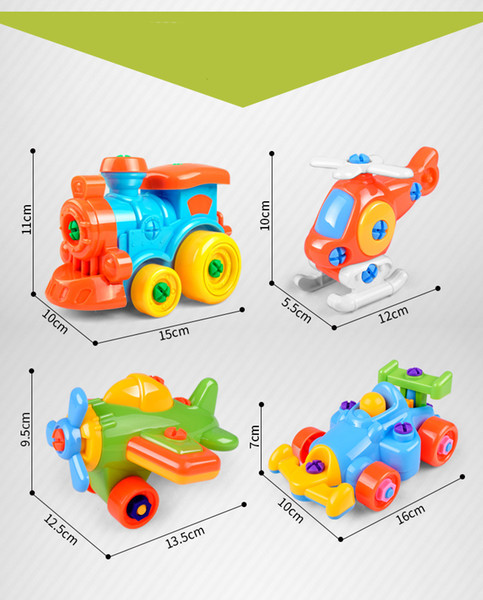 Kawaii kids baby early learning airplane disassembly assembly puzzle education toys cartoon train car small toy