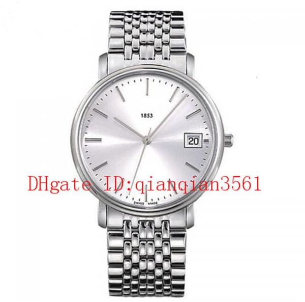 Livraison gratuite T52.1.481.31 hommes classiques quartz montre en acier inoxydable 34mm montres cadran blanc