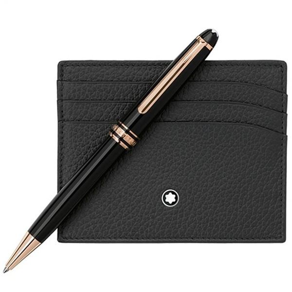 Lüks kalem mb marka Meisterstcek 163 Siyah Reçine Rollerball-Tükenmez kalem dolma kalemler Yazma okul kaynağı ile Almanya Seri Numarası