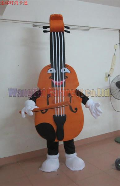 Violino del costume della mascotte di trasporto formato adulto, Violoncello vendite mascotte della fabbrica il vestito della mascotte della peluche di carnevale del anime di film cartone animato classico