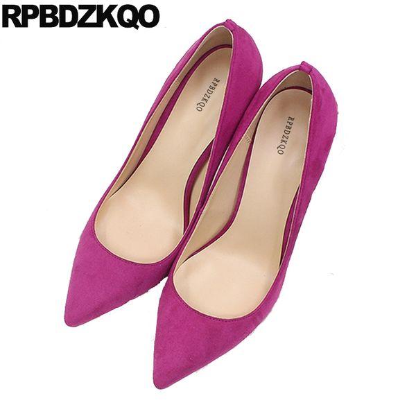 high heels ultra fetish scarpin pointed toe designer exotic dancer blue suede shoes women 12cm 5 inch 13 45 big size 12 44 pumps