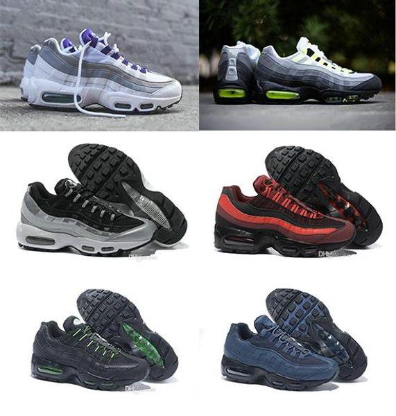 2019 95 Обувь мужская спортивная обувь 95 OG Mens Роскошная 95S Мужчины красный желтый неоновый белый кроссовки Повседневный размер Man кроссовки 36-46