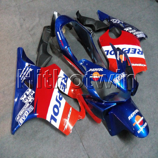 Gifts+Screws Injection mold red blue motorcycle article for HONDA CBR600F4i 2004-2007 F4i 04 05 06 07 ABS motorcycle Fairing hull