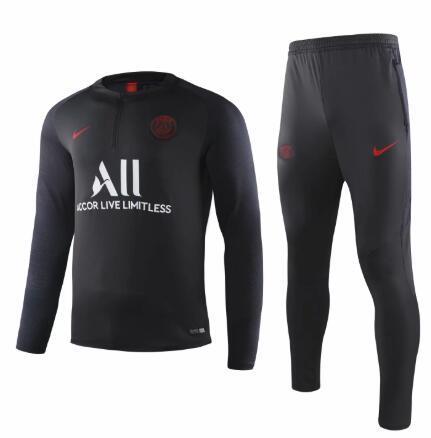 PSG jaqueta preta adulto de futebol treino 2019-20 treino Paris Mbappé LUCAS PRINCIPAL paletó kit de treinamento