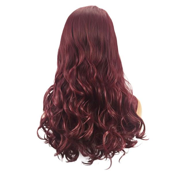 Pelucas para el cuidado del cabello Soportes peluca de moda para mujer Onda larga Peinado rizado Pelo sintético suave 65 cm Fibra de alta temperatura natural Feb13