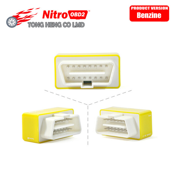 10pcs/lot More Power / Torque Drive Nitro OBD2 Cars OBDII Benzin Interface And Chip Tuning Box NitroOBD2 Plug For Benzine