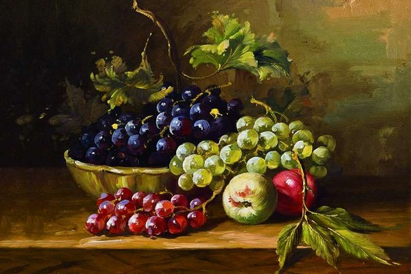 2019 Modern Photography Grape Apple Still Life Oil Painting Canvas Printings On Canvas Wall Art Decoration Picture From Oilpainting520 7 54