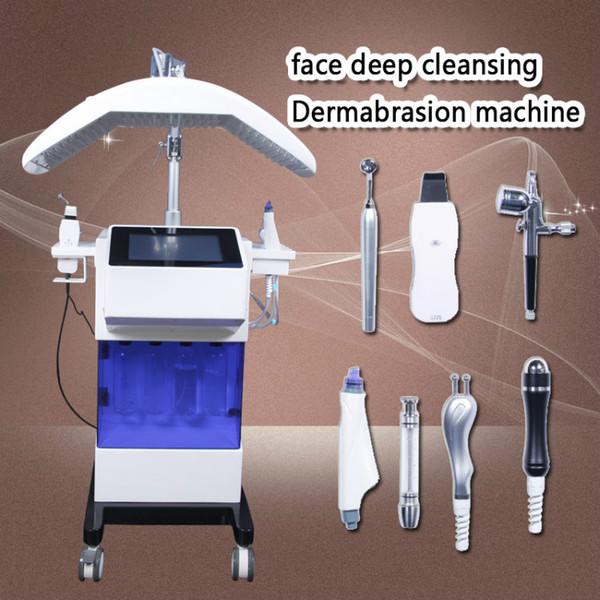 ALTA CALIDAD !!! Máquina hidráulica Limpieza de la cara al vacío Cuidado de la piel Dermoabrasión PDT LED Agua Dermabrasión Dermabrasión Máquina Hydrafacial CE