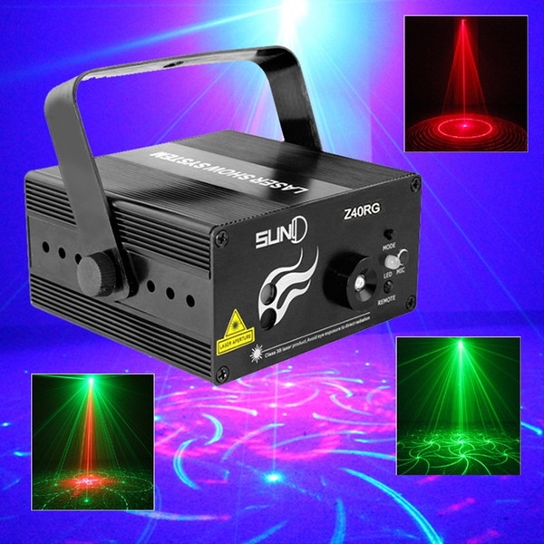 RG 3 Lens 40 Patterns Mixing Laser Projector Stage Lighting Effect Blue LED Stage Lights Show Disco DJ Party Lighting