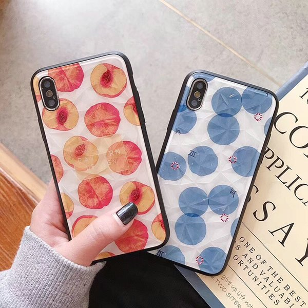 Peach pattern phone case cover for iphone Xs max Xr X TPU+PC for iphone 7 7plus 8 8plus 6 6plus