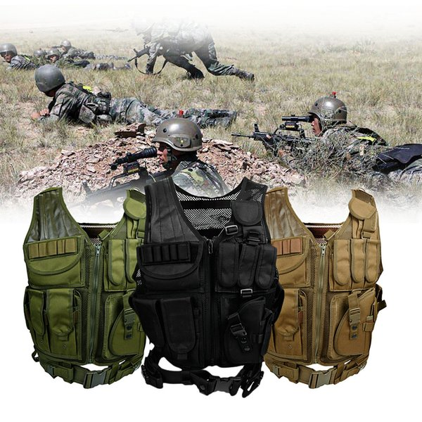 Tactical Vests Molle Combat Paintball Assault Plate Carrier hunting Vest CS Outdoor Cloth Waistcoat Protect Vest Camouflage