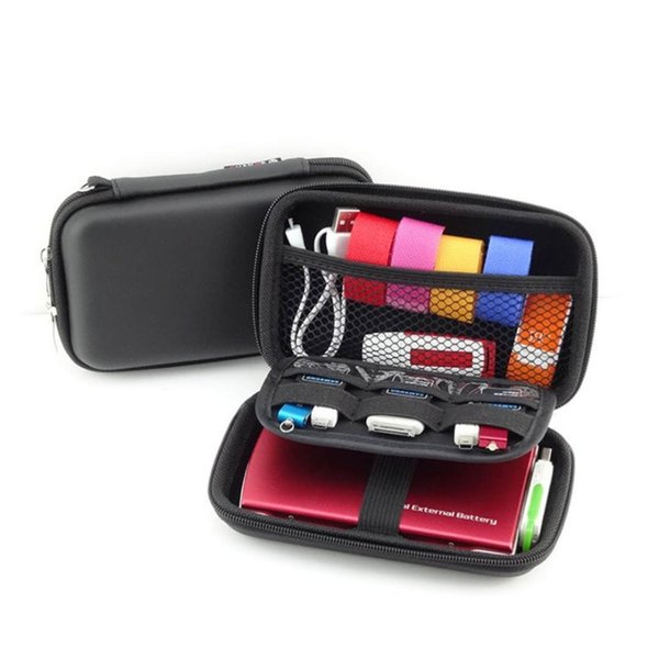 Storage Bag Travel Set Gadget Bag Mobile Kit Case Digital Gadget Devices USB Cable Data Line Travel Insert 015