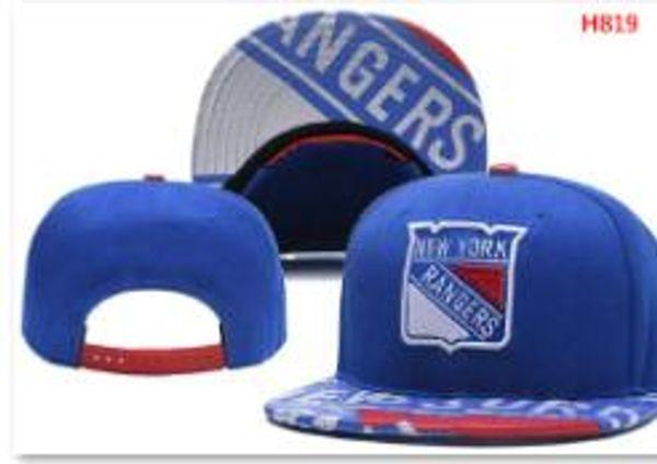 Sports sunhat headwear Flat Brim Hockey Snapback NEW YORK RANGERS Hat Adjustable All Team Baseball Ball snapbacks High Quality hat 01