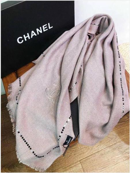 2020 Cachecol cachecol de caxemira e carta lenços de seda tira Para Mulher Inverno quadrado Wraps Siz