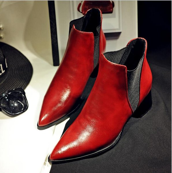 New Martin Boots, Women's British Style Retro Women's Rough-heeled Shoes