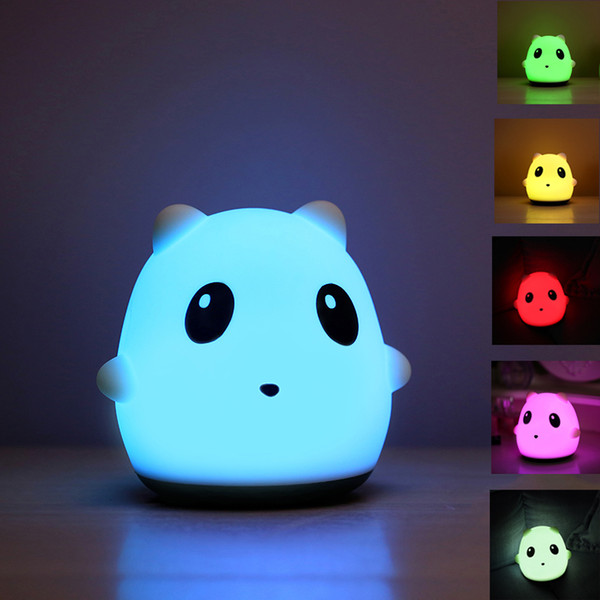 Panda LED Night Light Animal Soft Silicone Colorful Table Lamp USB Rechargeable Night Lights Bedsides Desk Lamps Christmas Gift