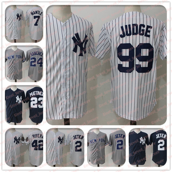 buy online 6338f bedcd 2019 99 Aaron Judge Jersey 2 Derek Jeter 3 Babe Ruth 23 Don Mattingly 24  Gary Sanchez New York Jersey Yankees From Best_level_jerseys, $20.7   ...