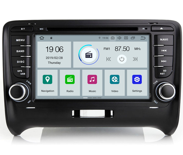 """COIKA 7"""" Quad Core Android 9.0 System Car DVD Radio Recorder For Audi TT With 2+16G WIFI 4G GPS Navi OBD DVR Mirror Screen USB"""